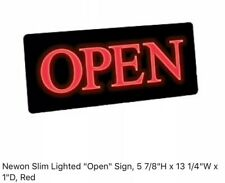 "Newon Slim Lighted ""open� Sign 5� x 13� x1�"