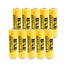 BXE 10PCS 18650 Battery 9800mAh Li-ion 3.7V Rechargeable Batteries Ship from USA