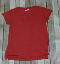 Madewell Anthem S/S Scoop Neck Tee Shirt Womens Small Coral Casual C5631 Pocket