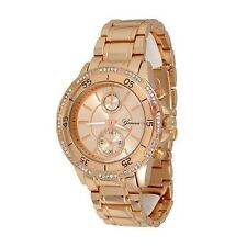 Rose Gold Fashion Ladies Designer Geneva Acrylic Band Crystal Women Watch