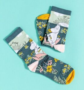 Official Moomin Moomintroll and Snorkmaiden Scene Socks