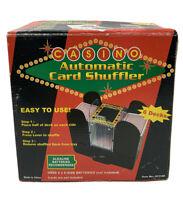 Vintage CASINO AUTOMATIC CARD SHUFFLER Shuffles 6 Decks Battery Operated #ST3186