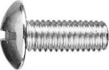 1/4-20 x 3/4 Truss Head Slotted Machine Screws Steel Zinc Plated (50 pc) USA