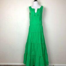 Ralph Lauren Womens Maxi Dress Kelly Green Stretch Summer Boho Peasant Size 6