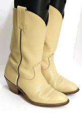 VGUC Frye Women's Size 8.5D Beige Leather Western Roper Style Cowboy Boots