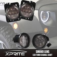 LED Turn Signal & Fender Side Light Combo Smoke Lens for 07-17 Jeep Wrangler