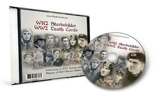 GERMAN WWII DEATH CARD PHOTO CD - TOTAL 8.373 SCANS
