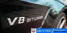 V8 Biturbo para Mercedes AMG E G Clase S 3D ABS cromo adhesivo con el logotipo insignia emblema