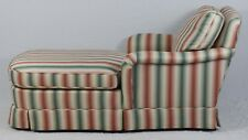 BAKER Upholstered Chaise Lounge with High End Colorful Stripped Fabric