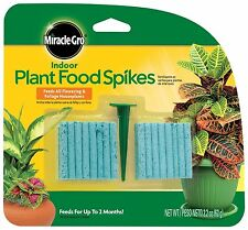 Miracle-Gro Indoor Plant Food 48-Spikes Fertilizer Spikes 2.2-Ounce