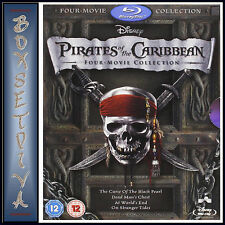 PIRATES OF THE CARIBBEAN COLLECTION 1 2 3 & 4 *BRAND NEW BLU RAY*