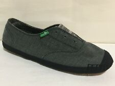SANUK BLACK SLIP ON CASUAL FLATS LOAFERS SHOES WOMENS SZ 7