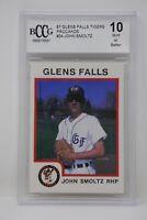 1987 Glens Falls Tigers Procards #24 John Smoltz Rookie Beckett 10 MINT