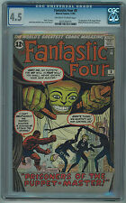 FANTASTIC FOUR #8 CGC 4.5 1ST PUPPET MASTER 0FF-WHITE/WHITE PAGES SILVER AGE