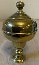 c1880 Antique French Brass Newel Post Finial - Boule d'Escalier