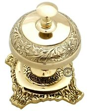 Ornate Solid Brass Hotel Counter Bell Service Desk Bell Call Bell Service Bells