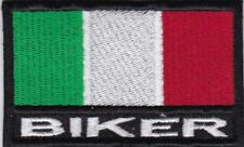 [Patch] BANDIERA ITALIA BIKER cm 8 x 5 toppa ricamata ricamo -917