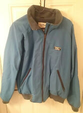 Vintage USA Made !!!! LL BEAN Fleece Lined Jacket Size XL Light Blue 1980s 1990s