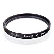 58mm +1 High Definition Close Up Macro Lens Sony Canon Nikon DSLR + FREE Pouch