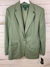 NEW Lauren Ralph Lauren Women's Linen Blazer Jacket Sage Green Size 10 $200