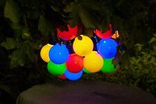 Noma Festoon Lights 20 Solar Multi Colour Lights