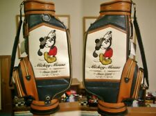 Disney Mickey Mouse Golf Cart Bag Trad Design Leather