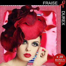 x 20 préservatifs 💖 DUREX PLEASURE FRUITS 💖 Colorés & parfumés Fraise