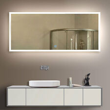 Bathroom lighted mirrors ebay led bathroom wall mirror illuminated lighted vanity mirror with touch button mozeypictures Image collections