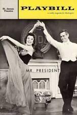 """Irving Berlin """"MR. PRESIDENT"""" Nanette Fabray / Robert Ryan '62 Premiere Playbill"""
