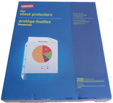 Staples Sheet Protectors 200 Count Clear Top Loading Reinforced Edge