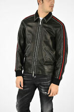 65% OFF DSQUARED2 black studded leather jacket XL IT52 super soft leather