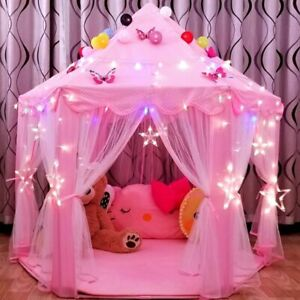 Play Tent For Girls, Play House (PINK), Portable, Lights Not Included