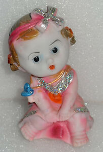 Beautiful Deco Clay baby Art Sculpture hand painted home decor gifts Figurine