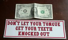 "HELLS ANGELS SUPPORT STICKERS ""Tongue"" bumper"