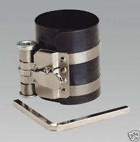 Sealey Engine Piston Ring Ratchet Compressor Clamp-75mm Diameter-60-125mm VS155