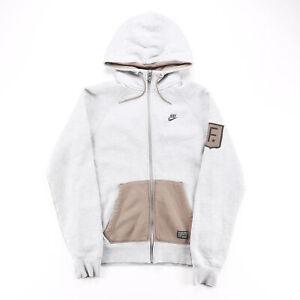 NIKE Grey 00s Zip Up Hoodie Mens S