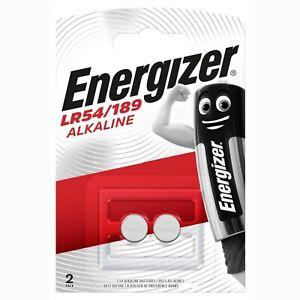 Pile LR54 AG10 Energizer V10GA 189 LR1130 80mAh pile bouton alcaline lot 2 piles
