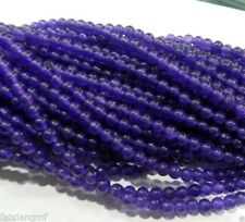 8mm Purple jade Gemstone Round Loose Beads 15""