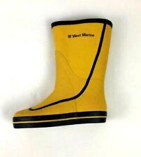 West Marine Rain Boots Sailing Boating Yellow Size 4 Waterproof Rubber