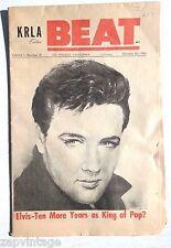 Vintage October 1, 1965 KRLA Beat Edition News Paper (Elvis Presley) Vol. 1