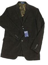 £ 412 RALPH LAUREN Blazer Abrigo Chaqueta de Pana 42R Deporte Marrón Nuevo Etiquetas Italia Hombres