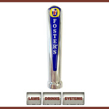 More details for fosters branded beer tap handle - chrome, rounded top. free delivery.