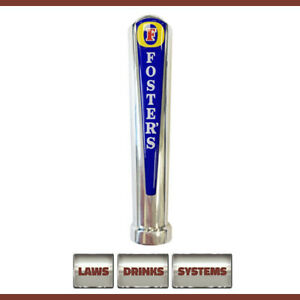 Fosters Branded Beer TAP HANDLE - Chrome, rounded top. FREE Delivery.