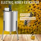 4/8 Frame Electric Honey Drum Beekeeping Honey Extractor Stainless Steel 140W