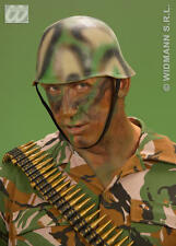 Camouflage Camo Soldiers Helmet Solidier Military Army Commando Fancy Dress