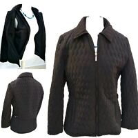 Quilted Jacket & Gilet Woman Size Large Black Fleece lined Winter Outdoor Coat