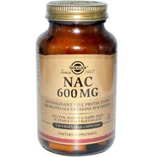 NEW SOLGAR NAC ANTIOXIDANT GLUTEN FREE NATURAL DETOX BODY CARE HEALTHY DIETARY