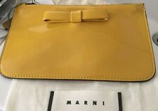 Beautiful NWT Marni Yellow Patent Leather Mini Clutch - Retails $450