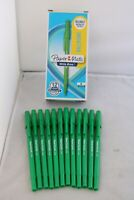 New Paper Mate Write Bros Green Ballpoint Pens x 12, UK Seller