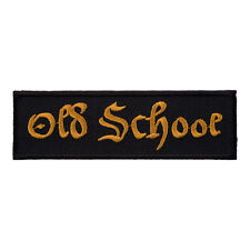 Old School Gold & Black Patch, Motorcycle Sayings Patches